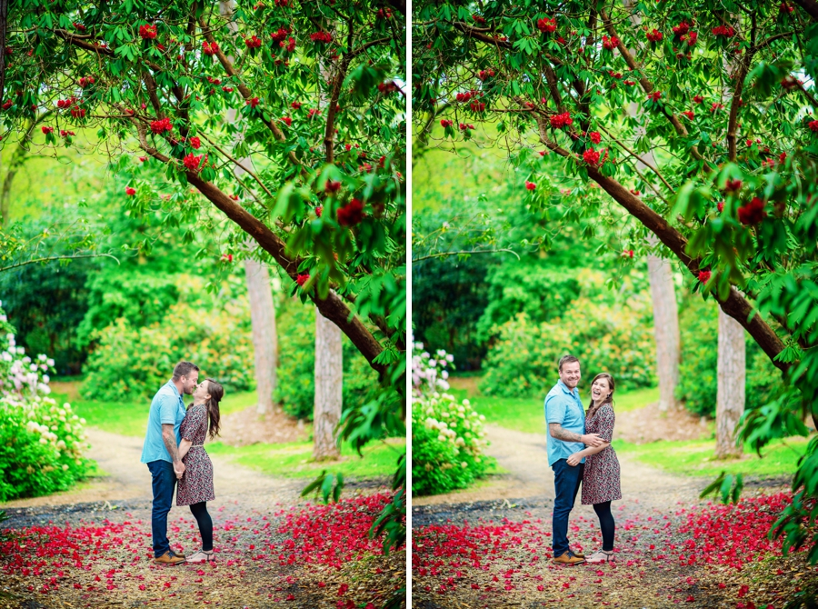 New Forest Wedding Photographer Exbury Gardens Engagement Session - Richard and Lynsey - Photography By Vicki_0011