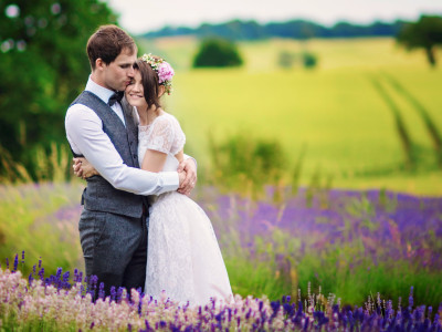 Tom + Leona | Shropshire Lavender Farm Wedding Photographer