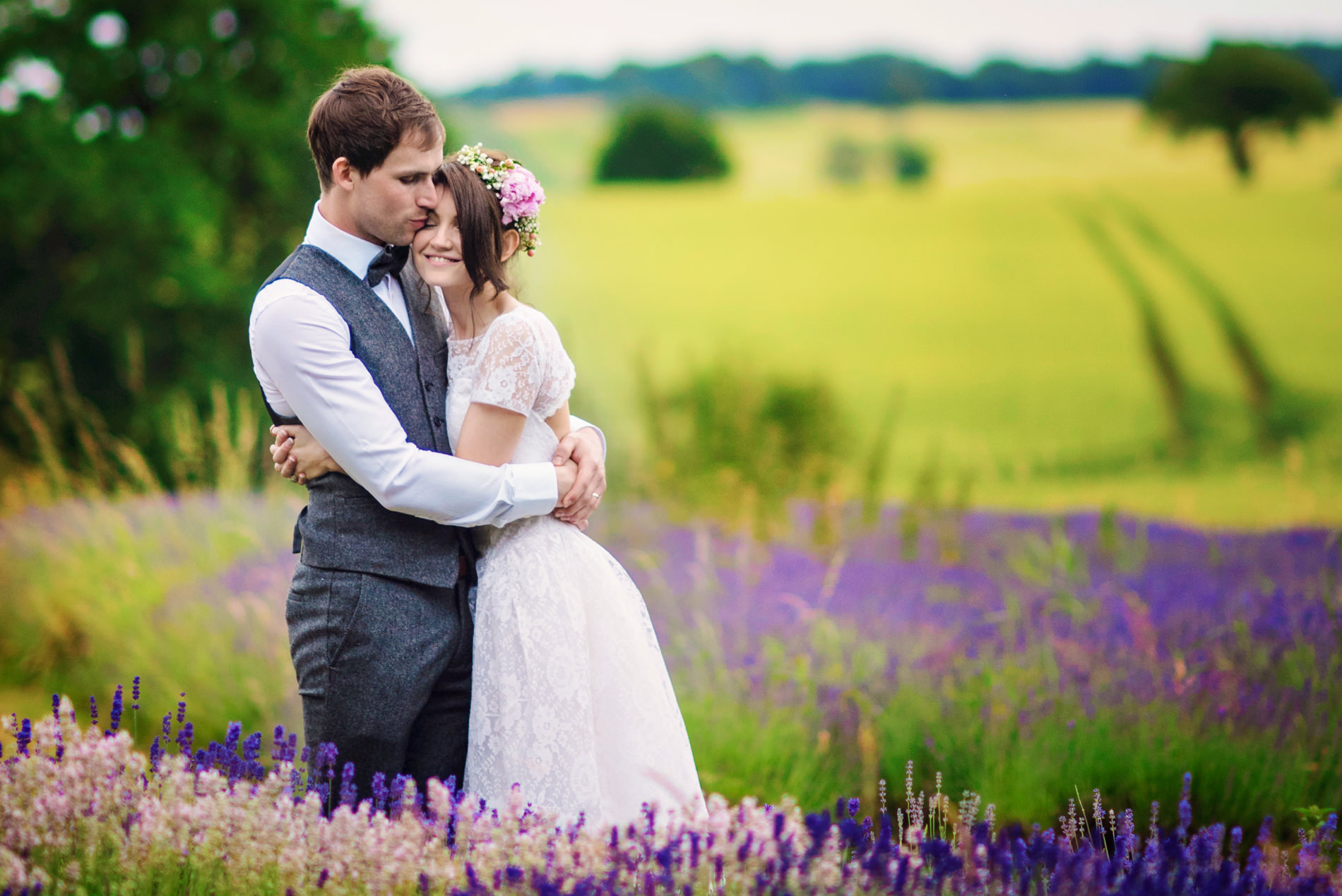 Clairmont lavender farm wedding