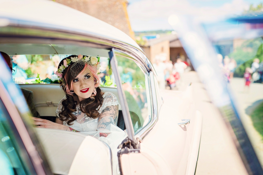 Pink Cadillac Wedding Photographer - Tattooed Bride Tattooed Groom - Ben & Danni - Photography by Vicki_0032