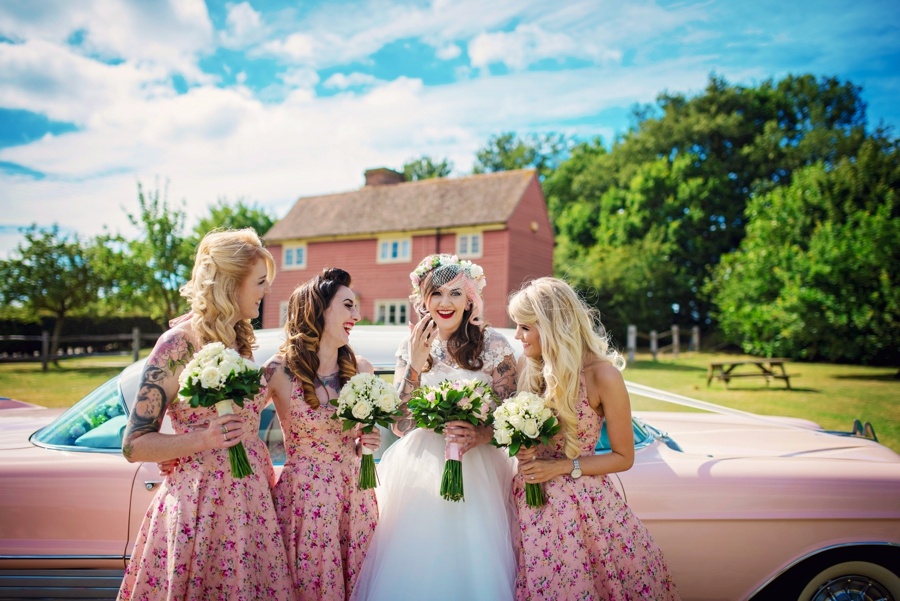Pink Cadillac 50s Wedding Photographer - Tattooed Bride Tattooed Groom - Ben & Danni - Photography by Vicki_0027