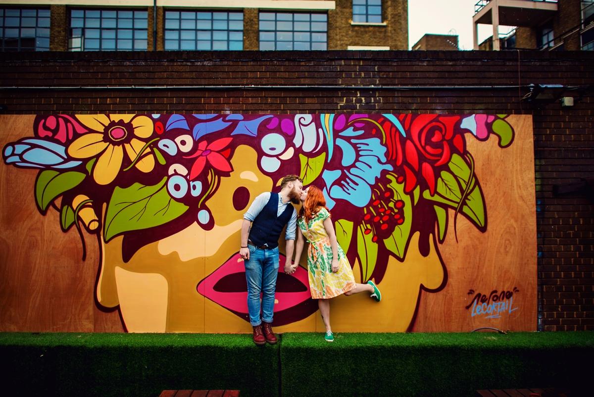 Alternative Wedding Photographer - Brick Lane Engagement Shoot - Photography by Vicki_0028