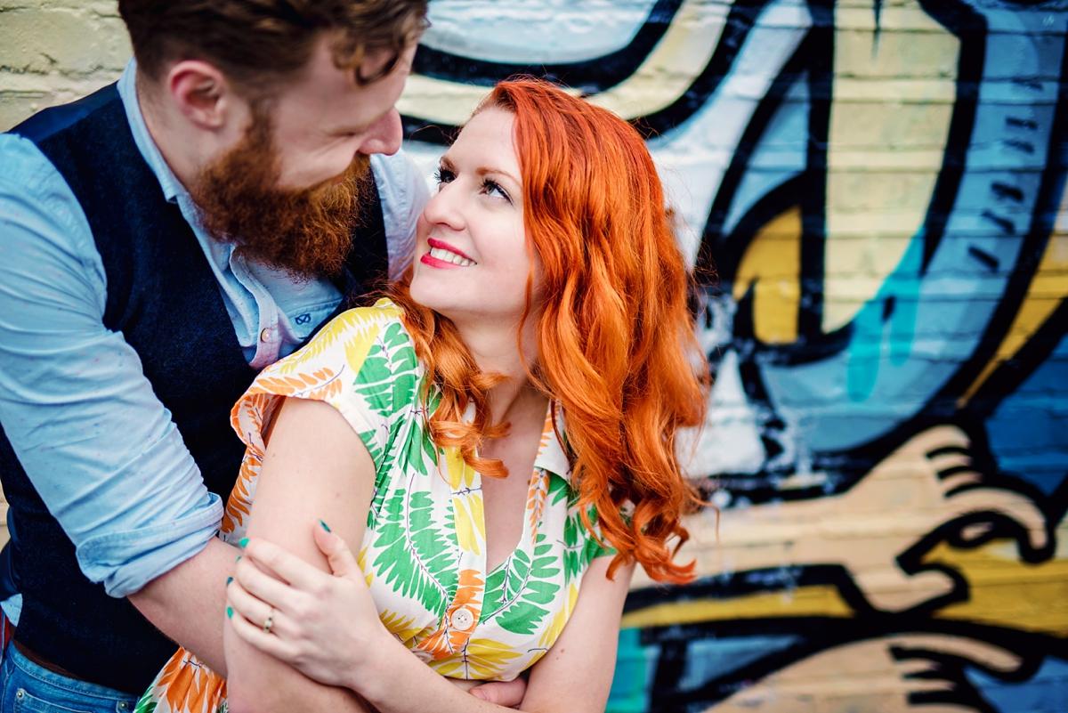 Alternative Wedding Photographer - Brick Lane Engagement Shoot - Photography by Vicki_0037