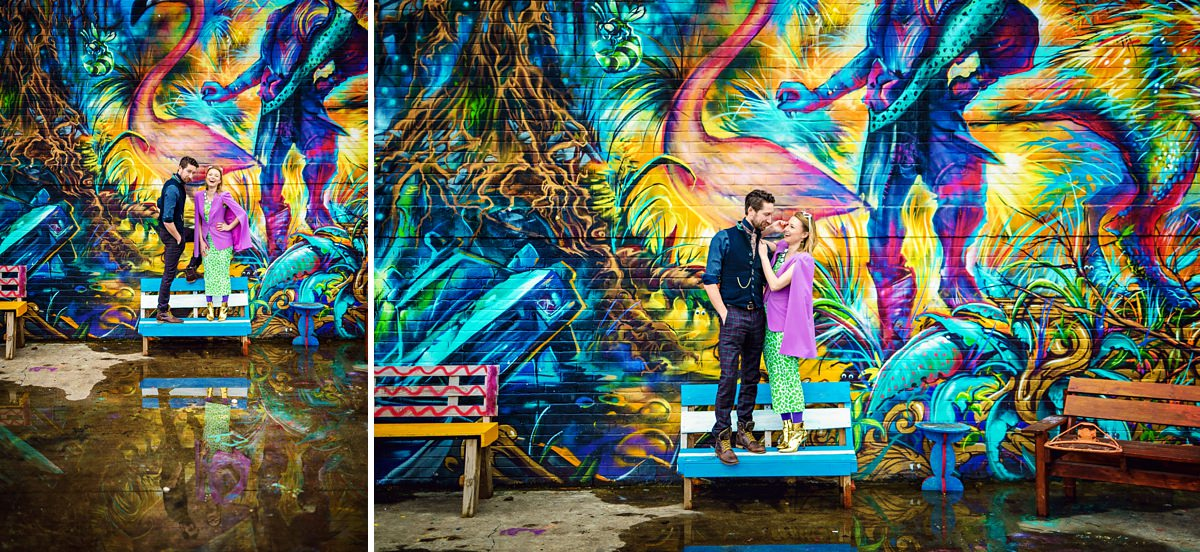 Brick Lane Wedding Photographer - Gray and Twinks in Nomadic gardens located in Brick Lane
