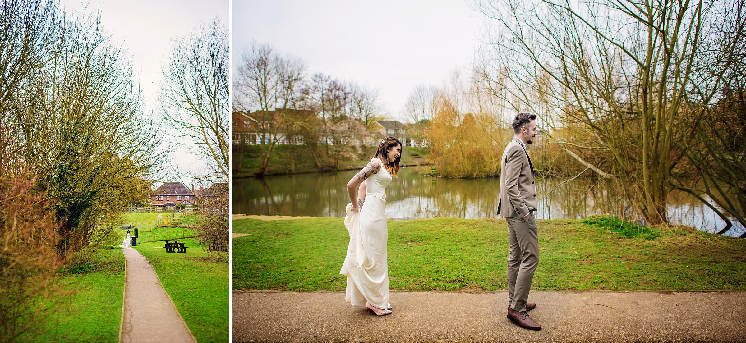 First Look Wedding Photography - Tunbridge Wells Photographer - Photography by Vicki