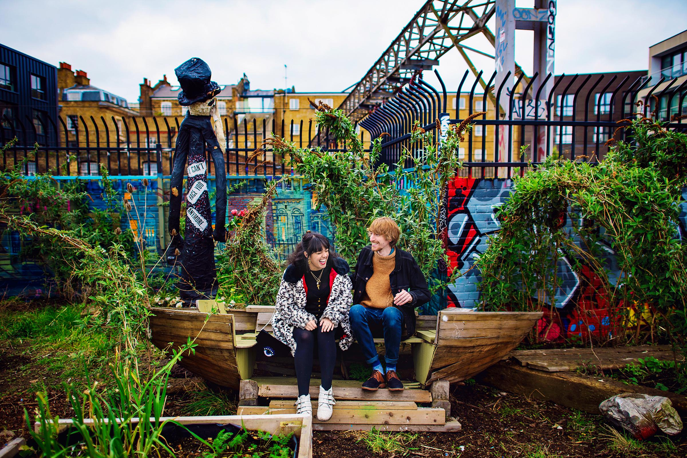 Brick Lane Engagement Session - Shoreditch - Photography by Vicki