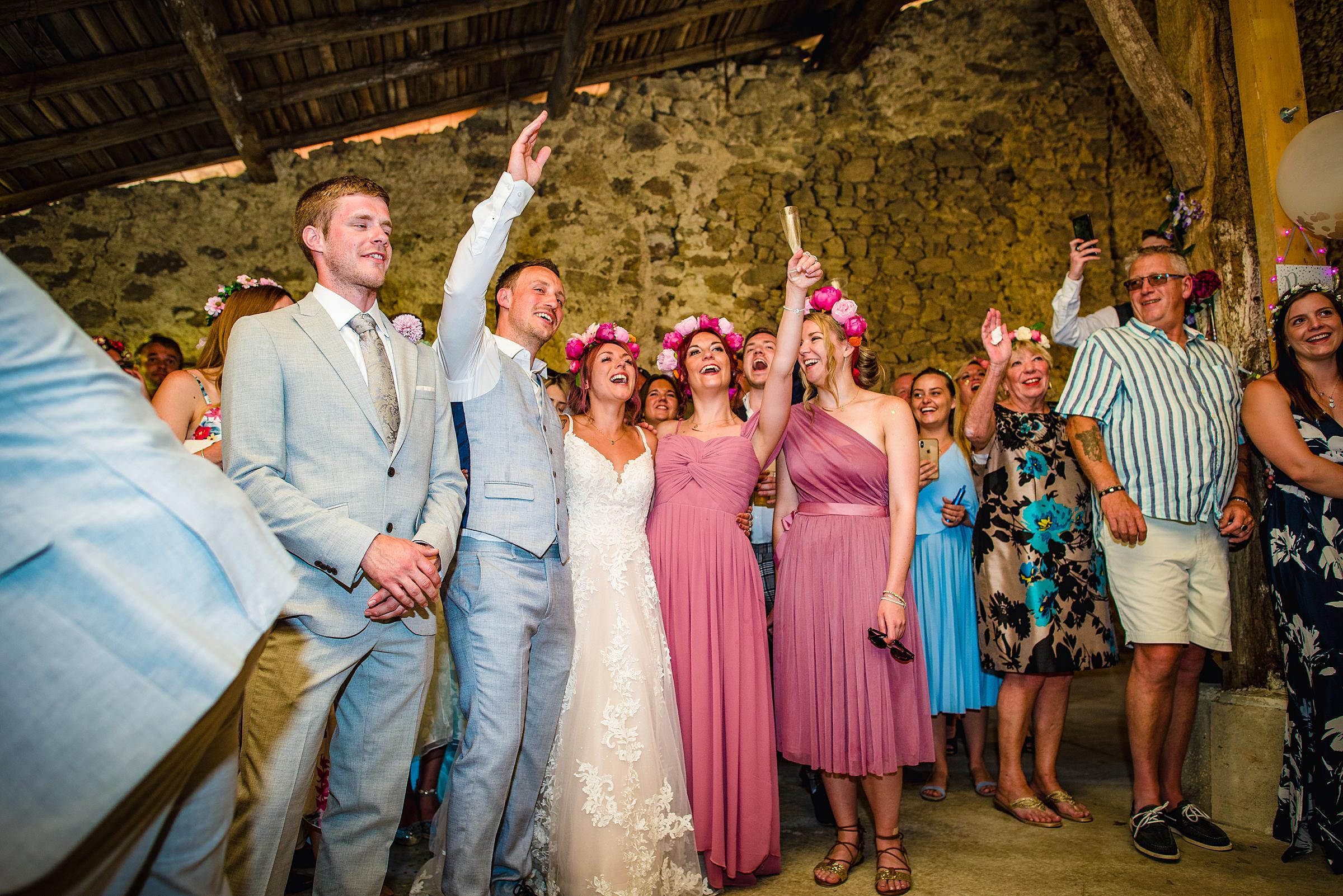 Back Garden Festival Wedding in France - Barn Wedding
