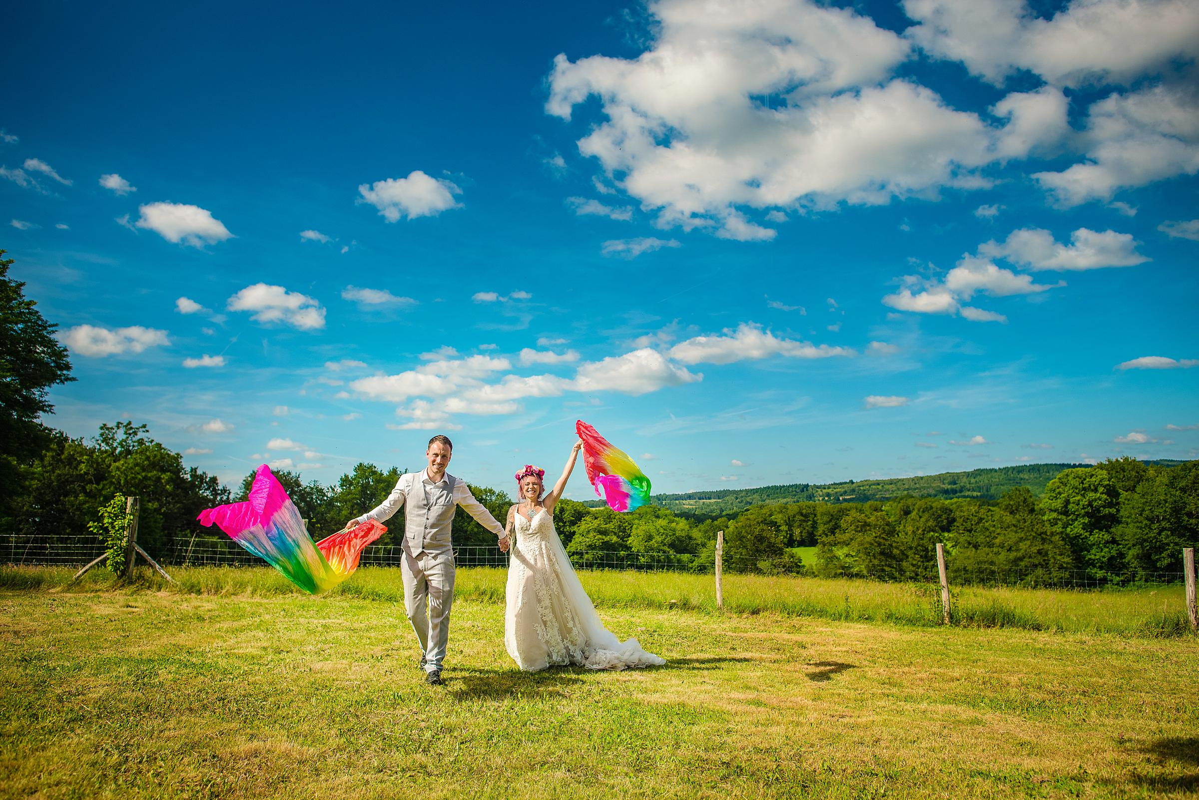Back Garden Festival Wedding in France - Rainbow Pride