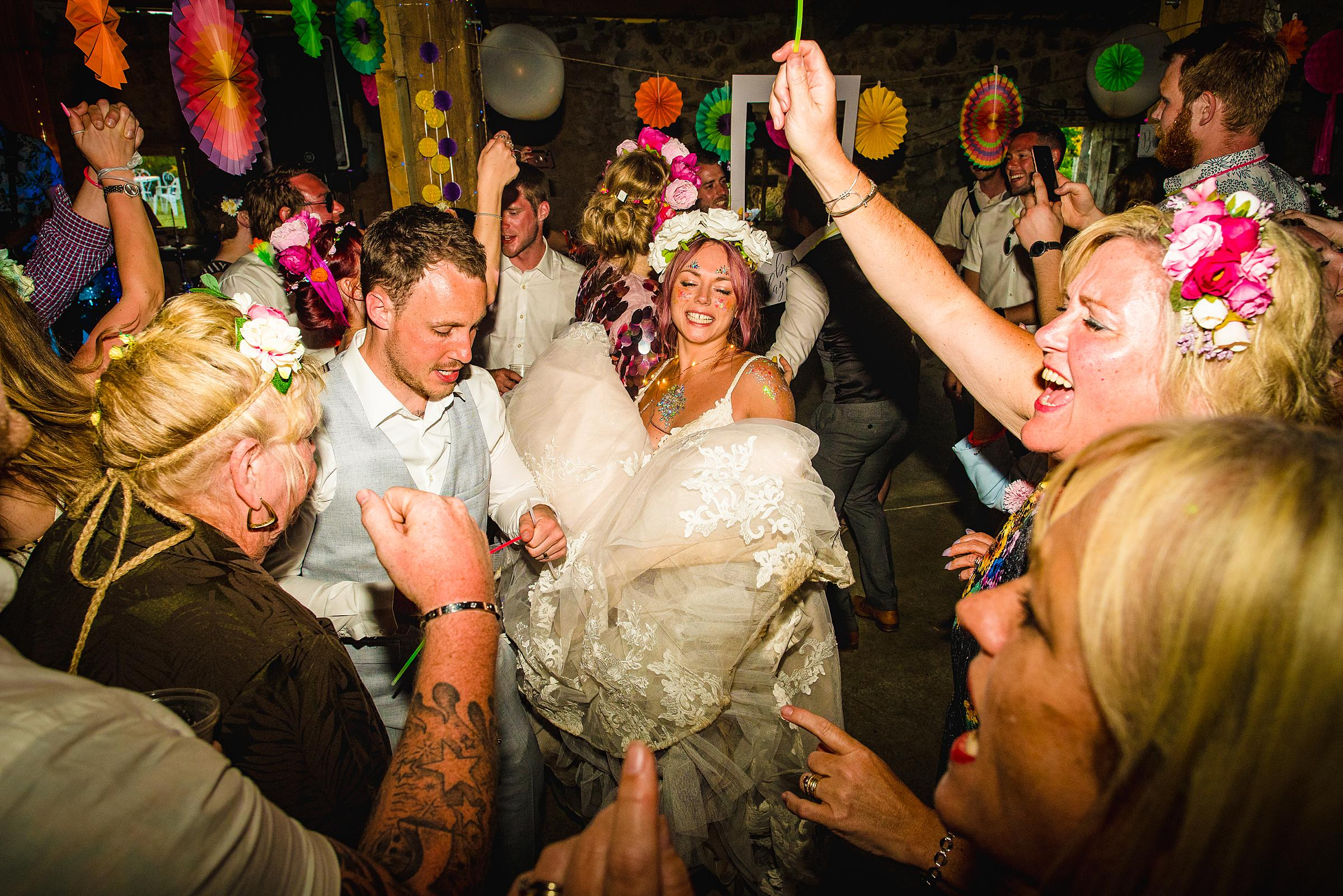 Festival Wedding in France - Tattooed Bride