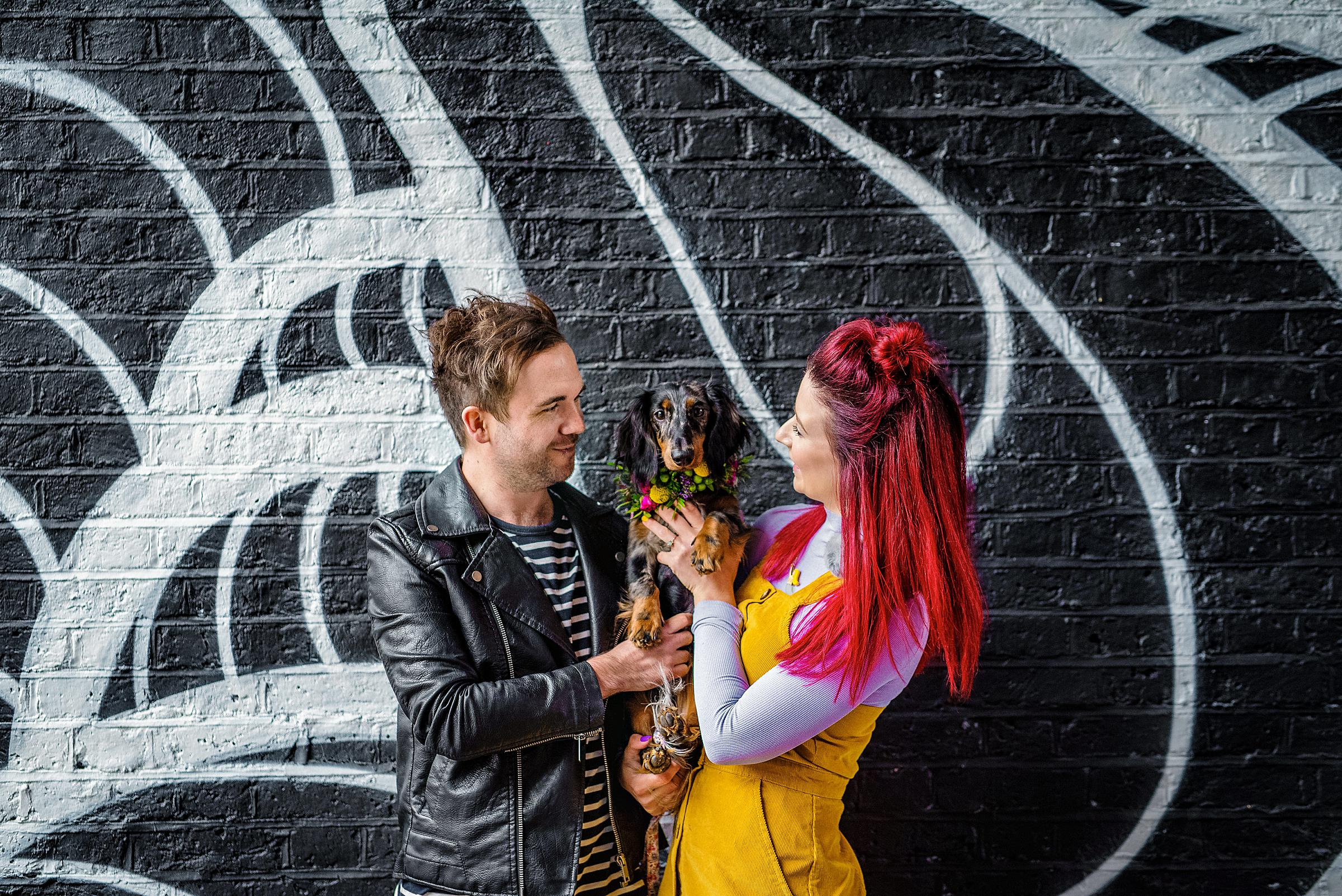 Colourful London Engagement - Shoreditch Engagement Session