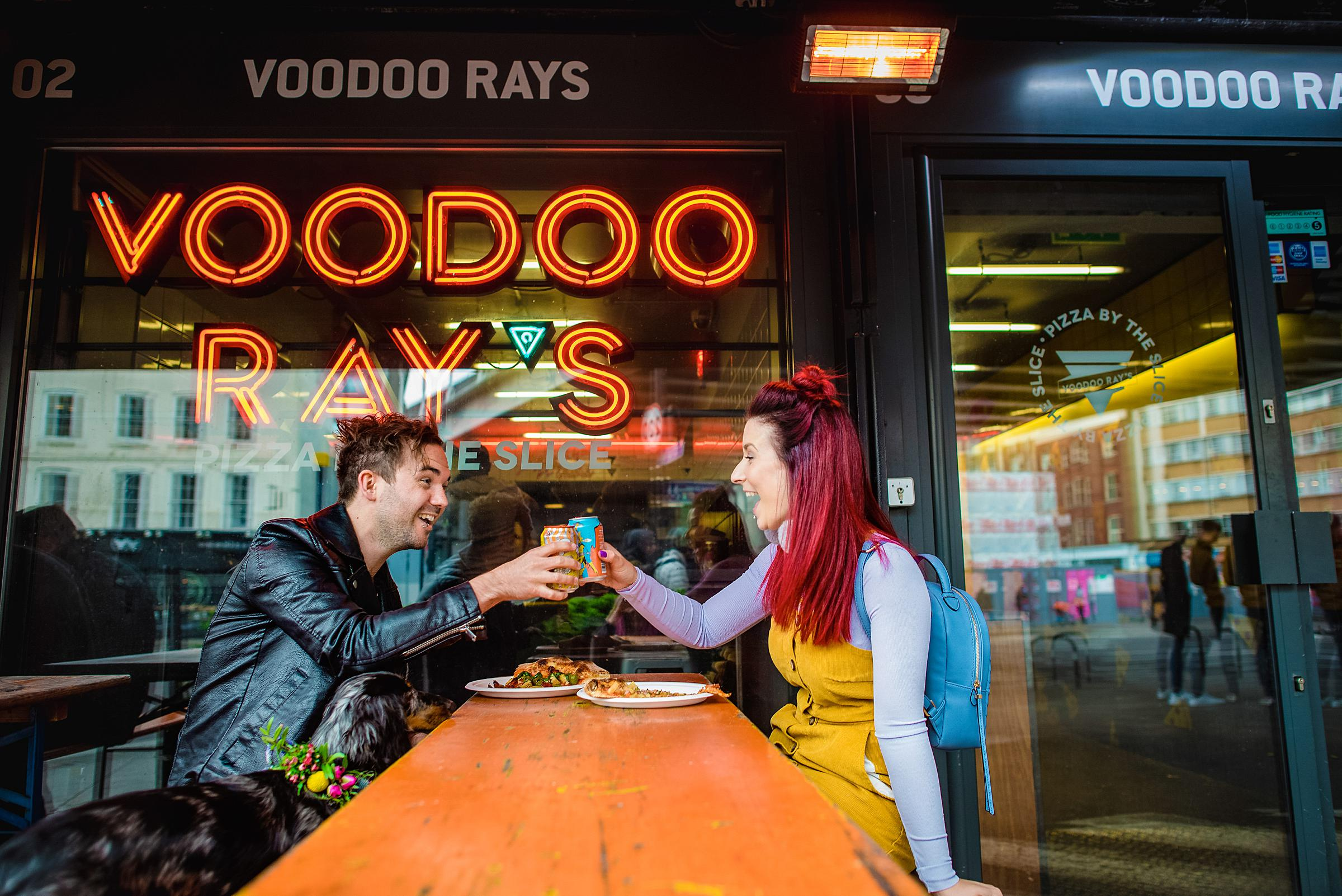 Colourful London Engagement - Boxpark Engagement Session