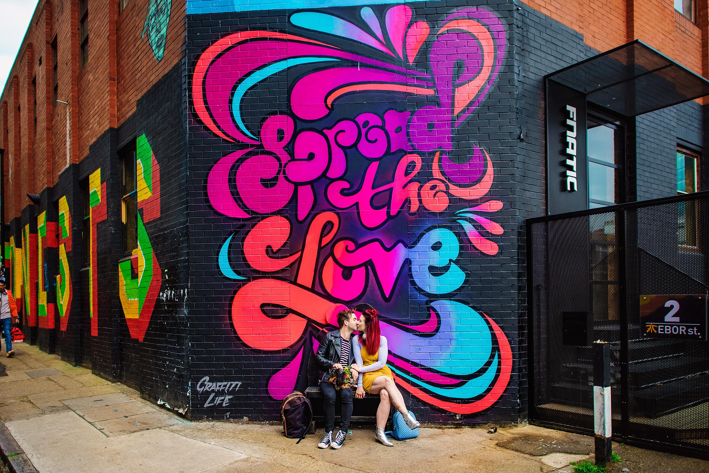 Colourful London Engagement - Shoreditch Engagement Session - Spread the Love